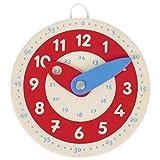 Piccolo orologio di apprendimento, Legno, Goki, Ora imparare