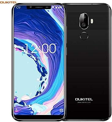 "OUKITEL U18 4G LTE Smartphone Libre,5.85"" 21:9 HD+ Pantalla, Cámara de 16MP+5MP+13MP,Octa-Core 4GB RAM+64GB ROM,Android 7.0 Dual SIM Teléfono móvil,Batería de 4000mAh,Face ID,GPS (Negro): Amazon.es: Electrónica"