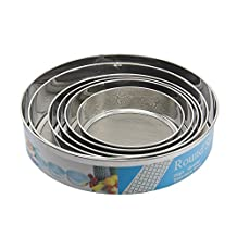 Happy Hours® 6 Pcs Stainless Steel Fine Mesh Strainers Flour Sifter Strain Pasta Quinoa Noodles Sift & Sieve Flour Sugar Tea Filter Shaker