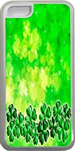 LJF phone case Rikki KnightTM Four Leaf Clover on Shamrock Irish Design Design iphone 6 4.7 inch Case Cover (Clear Rubber with bumper protection) for Apple iphone 6 4.7 inch