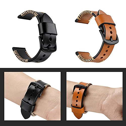 YOOSIDE for Garmin Fenix 5/Forerunner 935 Watch Band,22mm Genuine Leather Replacement Watch Strap for Fenix 5/5 Plus/Forerunner 935,Fit Wrist 5.9''-7.9''(NOT for Fenix 5X/5S) by YOOSIDE (Image #9)