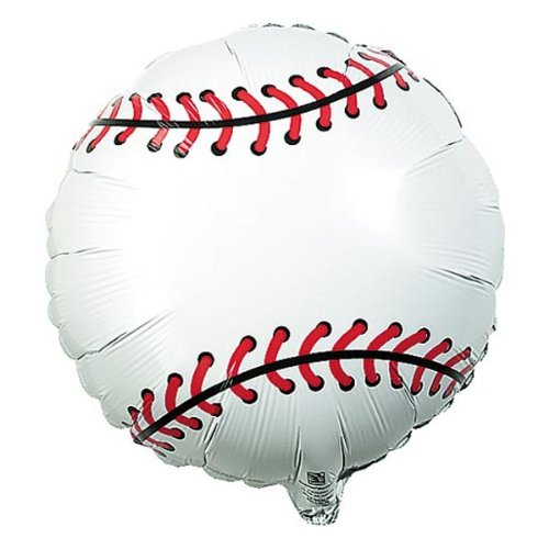 Qualatex Foil Balloon 028738 Baseball, 18