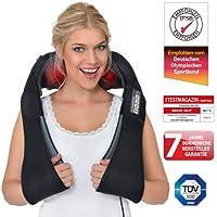 Donnerberg® DAS ORIGINAL Schulter Massagegerät für Nacken Rücken | shiatsu Nackenmassagegerät mit Wärmefunktion | 3-Rotation Massage | TÜV | 7 Jahre Garantie | Haus Büro Auto
