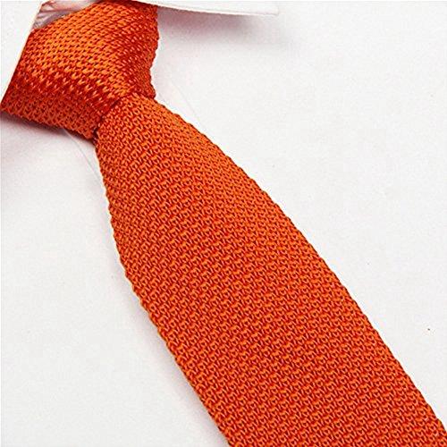 AngelShop-Vintage-Smart-Casual-Mens-Solid-2-Skinny-Knit-Tie-For-Groom-Various-Colors