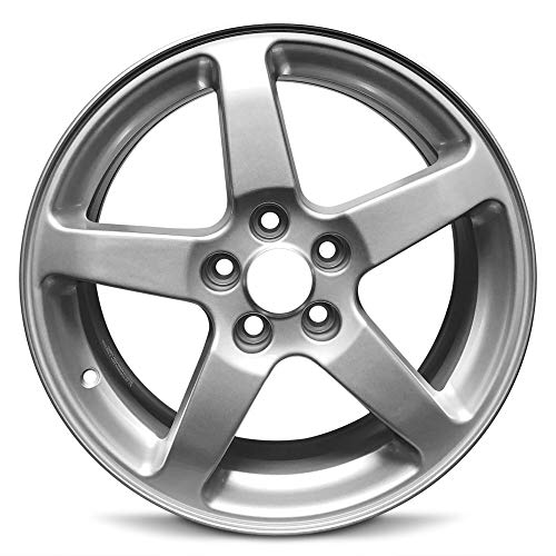 Road Ready Car Wheel For 2005-2009 Pontiac G6 17 Inch 5 Lug Silver Aluminum Rim Fits R17 Tire - Exact OEM Replacement - Full-Size Spare ()