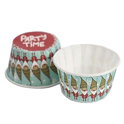 Bonitas cajas de papel para magdalenas, cupcakes o cupcakes (100 unidades, número 8
