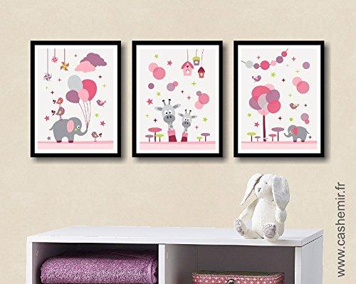 Affiche chambre bébé décoration chambre bébé fille déco chambre ...