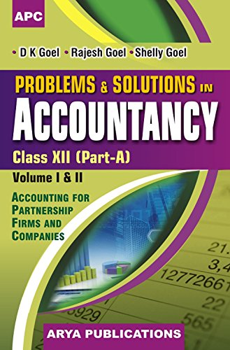 Problems & Solutions in Accountancy Class - XII Part A