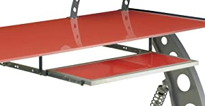 Pitstop Furniture KPT300R Red GT Spoiler Desk Pull-Out Keyboard Tray