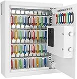 Barska 48 Key Digital Wall Key Safe, White
