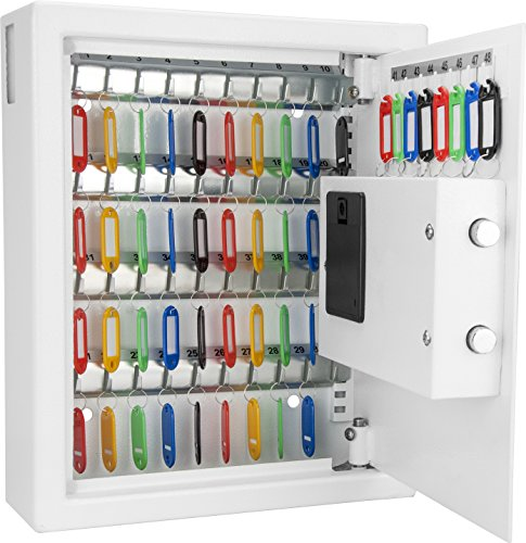 Barska 48 Key Digital Wall Key Safe, White by BARSKA
