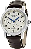 Montblanc Men's 'Star' Swiss Automatic Stainless Steel and Leather...