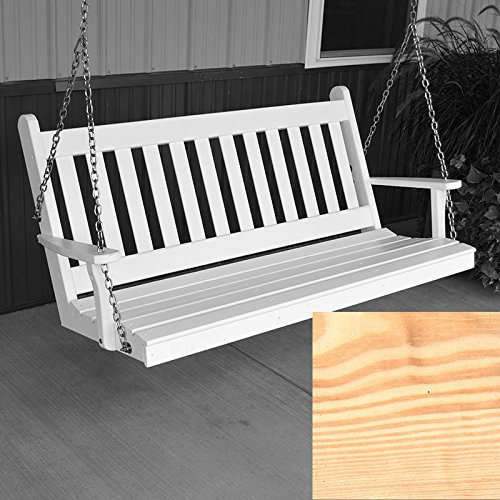 A&L Furniture Co. Traditional English Porch Swing (6 Foot, Unfinished)