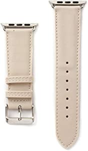 38 Compatible Apple Watch Straps 38mm (fit for 40mm), Luxury Fashion PU Leather Classic H Wrist Bands for Women and Men, Replacement for 38/40MM Apple Watch Series 5 4 3 2 1 (Khaki)