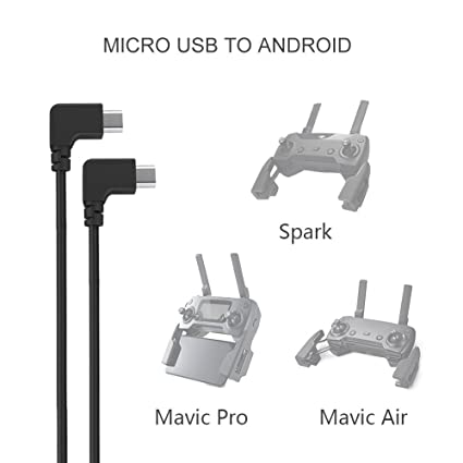 Amazon.com: RCstyle Durable Type-C Micro USB Cable For DJI Spark ...