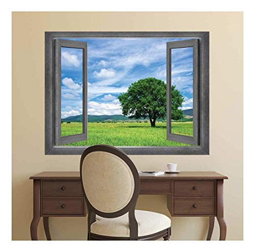 Open Window Creative Wall Decor Majestic Country Side View Wall Mural