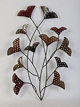 Gentiana A Floral Metal Wall Decor