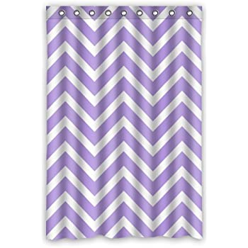 Amazon.com: Chevron Shower Curtain - Light Purple Lavender ... - photo#29