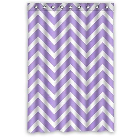 multi color chevron shower curtain. Chevron Shower Curtain  Light Purple Lavender and White Zigzag Pattern Colorful Stripes Fashion Personalized Amazon com