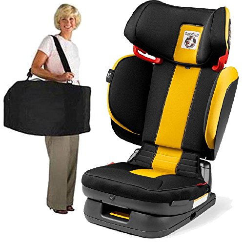 Peg Perego Carry Viaggio Flex 120 Child Booster Seat with Carrying Bag Daytona