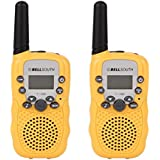 BELLSOUTH T-388 Yellow 2PCs T-388 3-5Km 22 Frs & Gmrs Uhf Radio for Child Walkie-Talkie (Yellow)