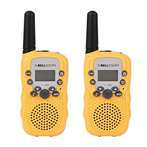 bellsouth-t-388-yellow-2pcs-t-388-3-5km-22-frs-gmrs-uhf-radio-for-child-walkie-talkie-yellow