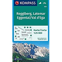 Regglberg, Latemar, Eggental, Val d'Ega: Wanderkarte mit Radtouren. GPS-genau. 1:25000 (KOMPASS-Wanderkarten, Band 630)