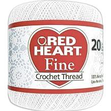 Red Heart Fine Crochet Thread, Size 20, White