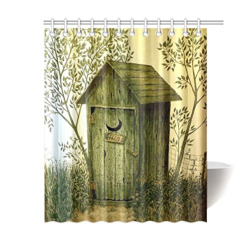 outhouse shower curtain - 7