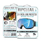 RIPCLEAR Smith I/O S Snow Goggle Lens Protector Kit - Scratch-Resistant, Crystal Clear - 3-Pack