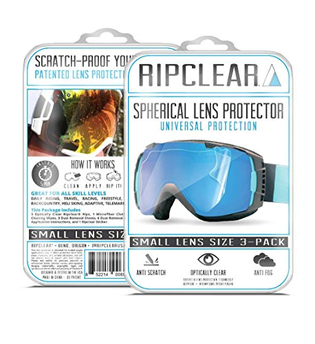 RIPCLEAR Smith I/O S Snow Goggle Lens Protector Kit - Scratch-Resistant, Crystal Clear - 3-Pack by RIPCLEAR