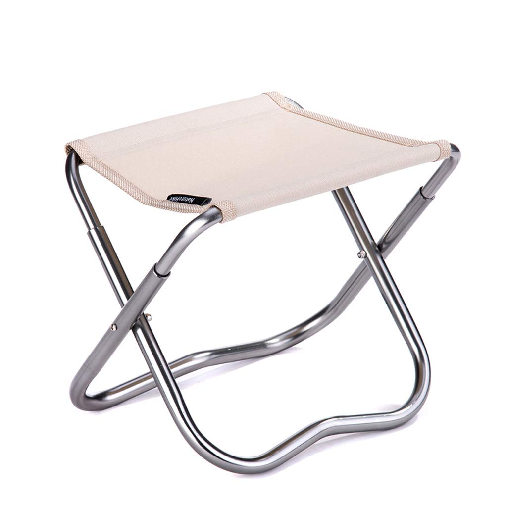 YAXIAO-Folding chair Stool Outdoor Folding Stool Portable seat Leisure Small Bench Folding Chair Fishing Stool Khaki 23.5x20cm