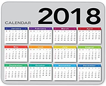Amazon.: Creative 2018 Calendar Mouse Pad Gaming Nonslip
