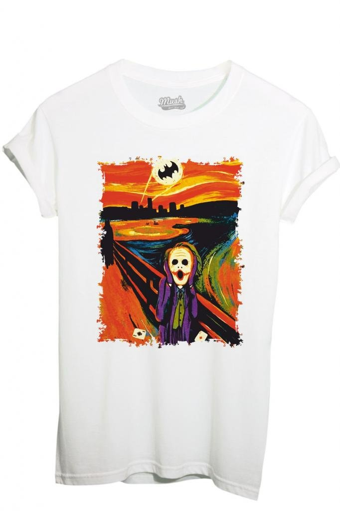 T-Shirt GOTHAM JOKER BATMAN MUNCH - FILM by iMage Dress Your Style imshT-IT-0871-parent