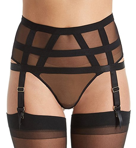 Bluebella Karolina Garter High-Waist Thong, XL, Black