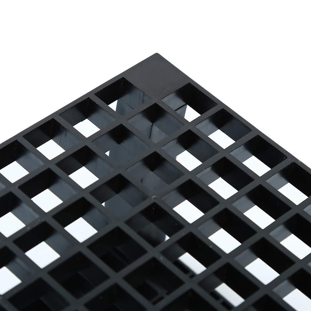LWANFEI Organizador de 96 agujeros para pinceles de pintura soporte de escritorio gris organizador de almacenamiento para artistas f/ácil de usar metal Reference description