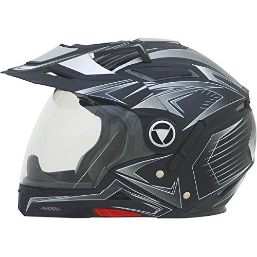 AFX FX-55 7-in-1 Helmet, Distinct Name: Flat Black Multi, Gender: Mens/Unisex, Helmet Category: Street, Helmet Type: Modular Helmets, Primary Color: Black, Size: 2XL 0104-1580
