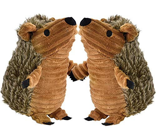 Legendog Hedgehog Dog Toys, 2 Pcs Dog Squeaky Toys Stuffed Hedgehog Dog Chew Toys Plush (Booda Dog Toy)