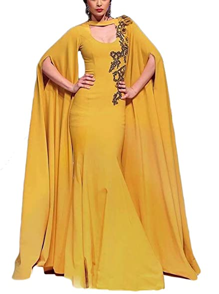 TulBridal Womens Black Appliques Mermaid Prom Dresses Gold Evening Formal Dress 2018