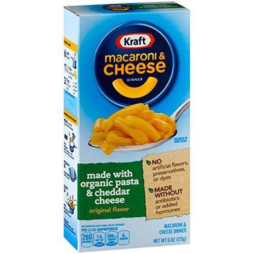 Kraft Original Flavor Macaroni & Cheese Made with Organic Pasta (6 oz Boxes, Pack of 12)