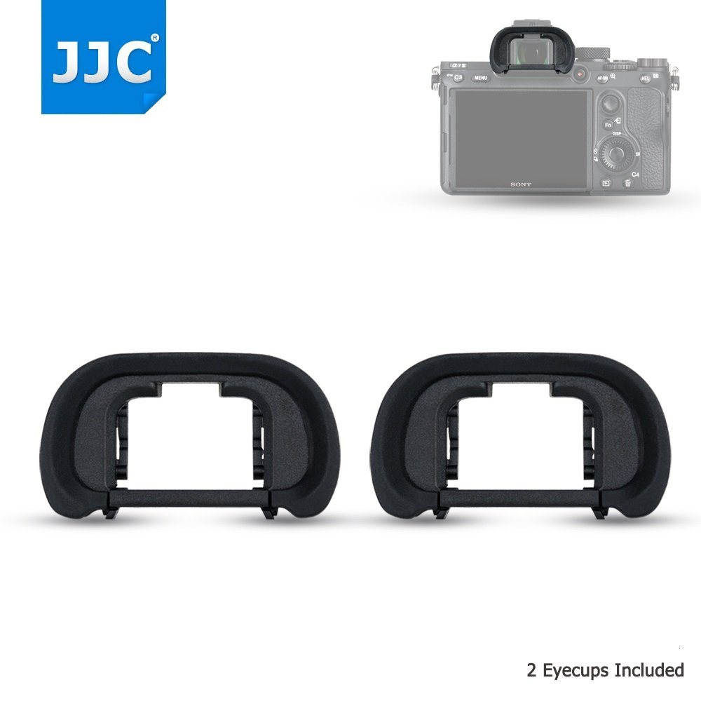2 Pack JJC Silicone Eyecup Eyepiece Cup Eyeshade Viewfinder Protector for Sony Alpha a9, a7 & a7 Mark III II, a7R & a7R Mark III II, a7S Mark II, a58 a99II, replaces Sony FDA-EP18 FDA-EP16 FDA-EP15 Jinjiacheng Photography Equipment Co. Ltd.