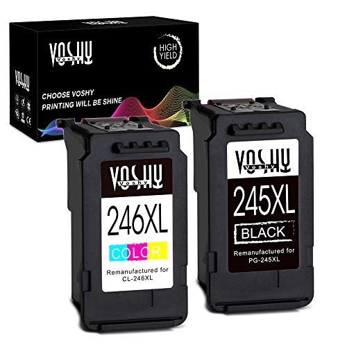 Voshy PG-245XL CL-246XL Remanufactured Ink Cartridges Replac