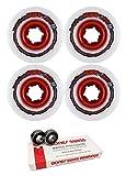 64mm Venom Tweaker Thug Life Longboard Skateboard Wheels with Bones Bearings - 8mm Bones Swiss Skateboard Bearings - Bundle of 2 items