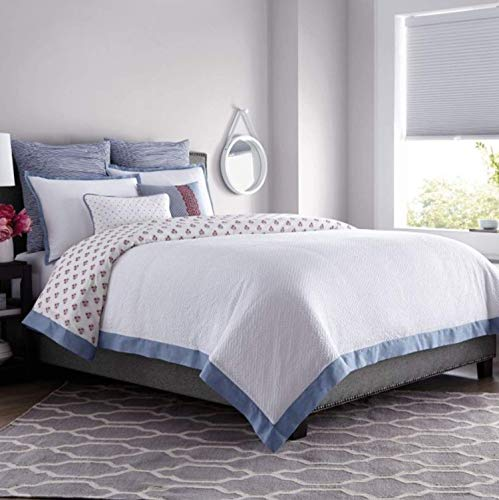 Real Simple French Riviera Twin Duvet Cover Set in White