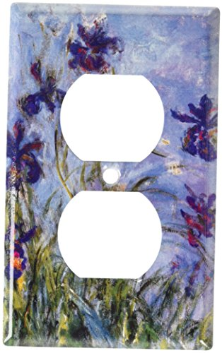 (Art Plates - Monet: Irises Switch Plate - Outlet Cover)