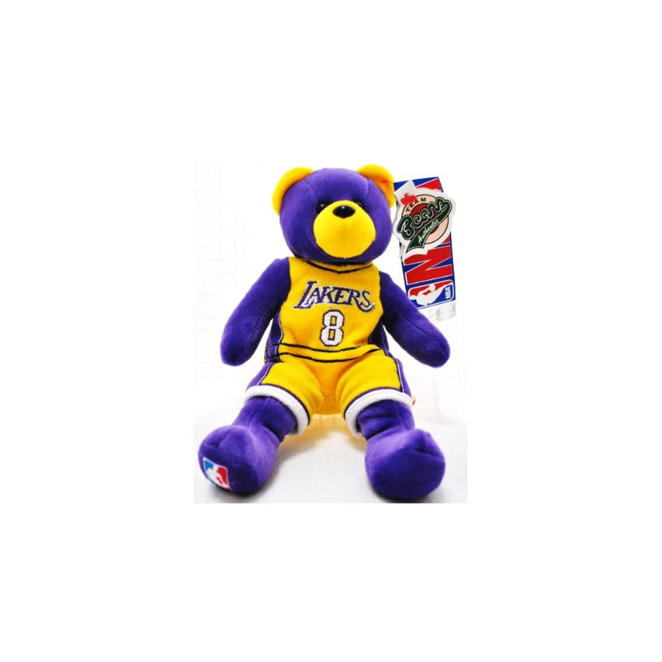 Los Angeles Lakers Player Uniform Kobe Bryant Nba Official Plush Teddy Bear