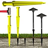 Keyfit Tools LAND STAKER Pilot hole maker for outdoor landscape pathway lights, spotlights & up lights Low voltage LED 12v 24v volt solar lighting Works with ALL brands of lights & stakes