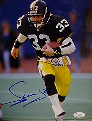 a533b1b36c0 Autographed Merril Hoge Photo - 8x10 Vertical Running - JSA Certified -  Autographed NFL Photos