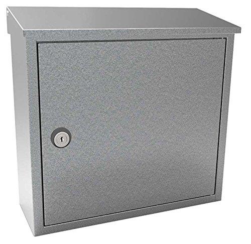Qualarc ALX BLK Allux 400 Top Loading壁マウントロックメールボックスPostスチール ALX-400-GAL 1 B074RV6S5V 亜鉛めっき 亜鉛めっき