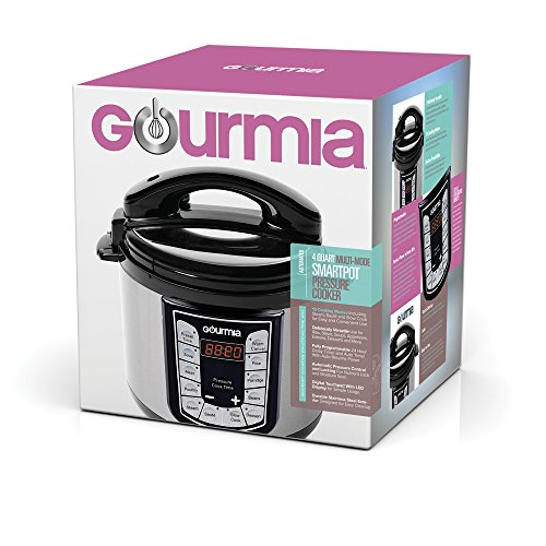 Gourmia GPC400 Smart Pot Electric Digital Multifunction Pressure Cooker with 13 Programmable Cooking Modes, 4 quart Stainless Steel with Steam Rack, 800W, Silver Free Recipe Book Included by Gourmia (Image #4)
